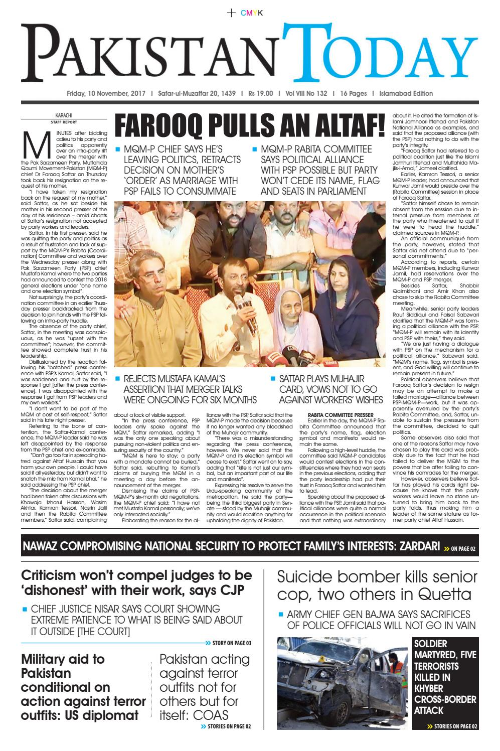E Paper Pdf 10th November Isb By Pakistan Today Issuu