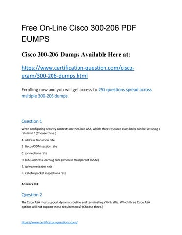 300-206 Dumps: Always Updated Exam Questions With Our Mobile