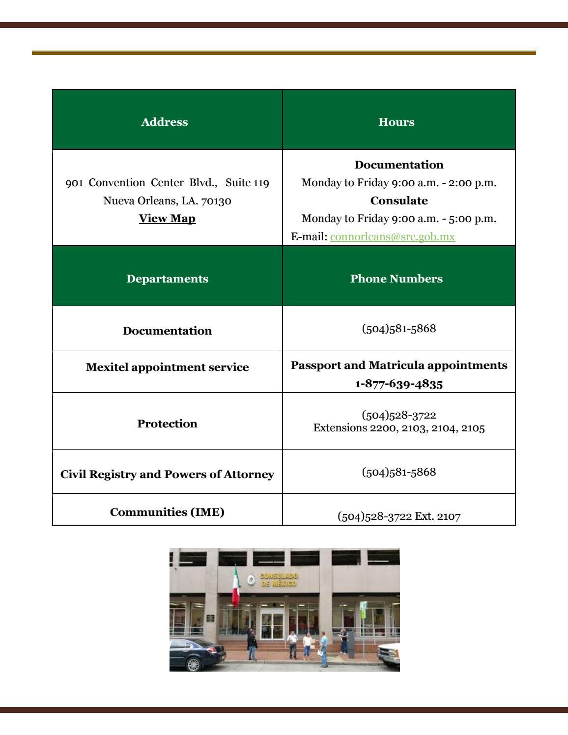 Consular Gazette October 2017, Consulate of Mexico in New