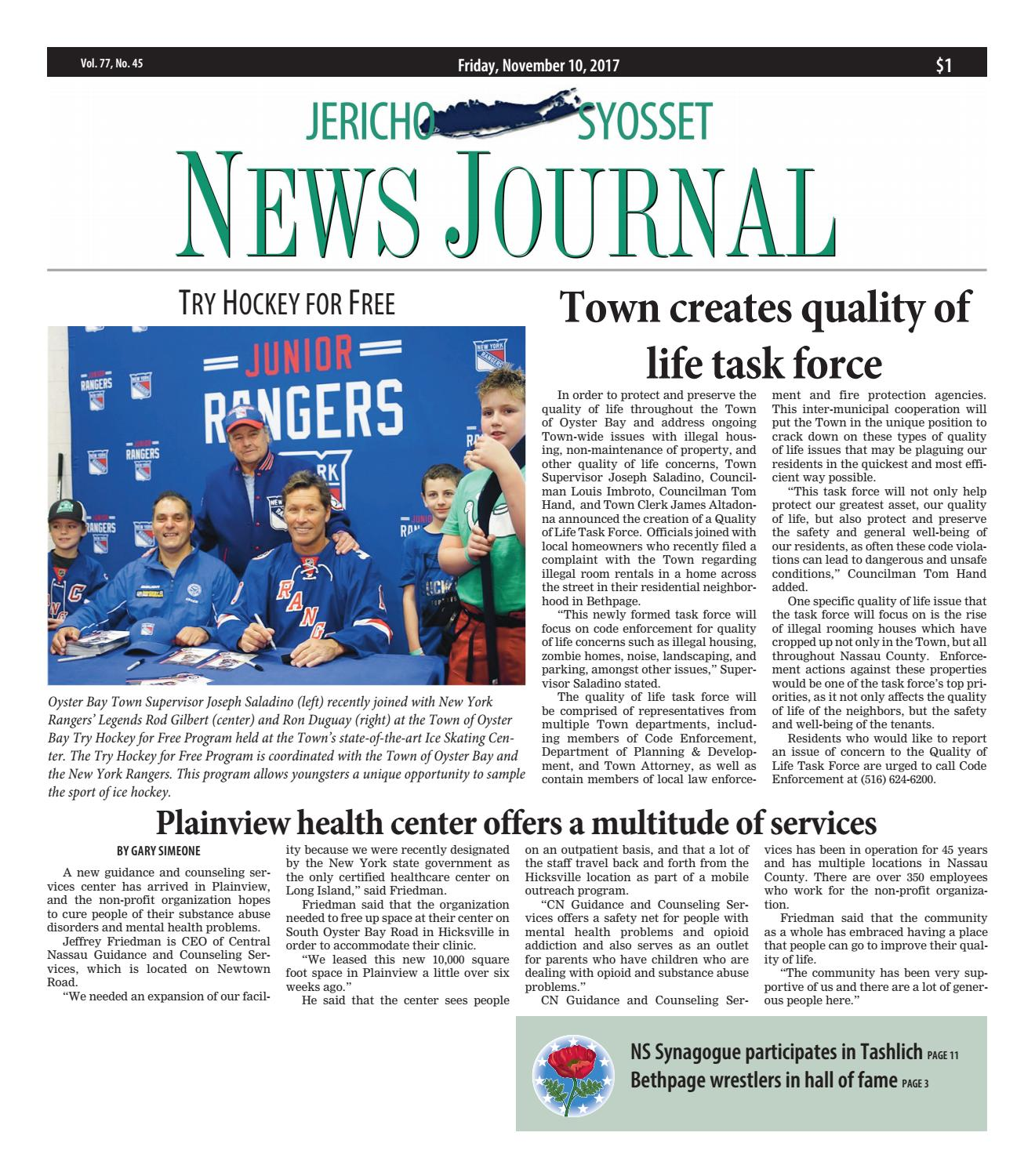 Jericho News Journal 11 10 2017 By Litmor Publishing Issuu