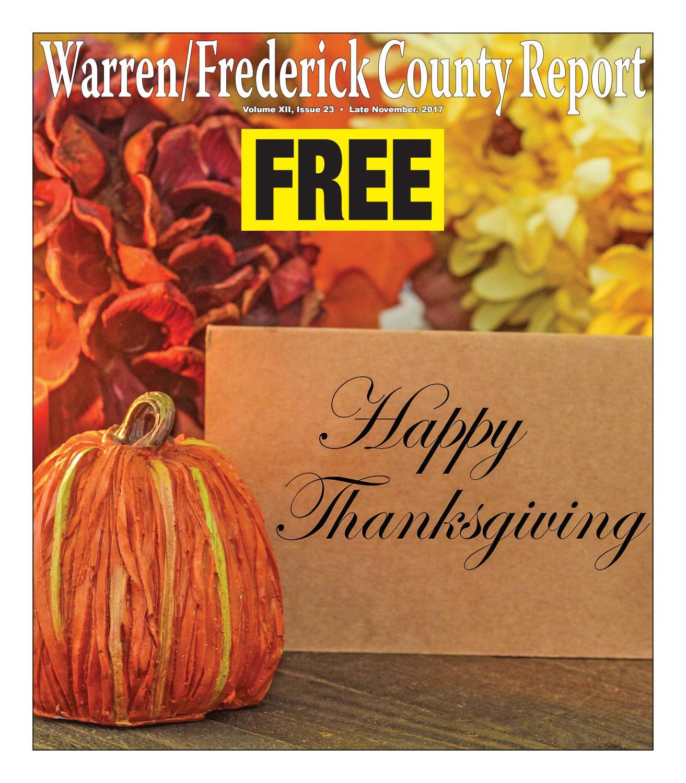 Late November 2017 Warren/Frederick County Report by Warren ...