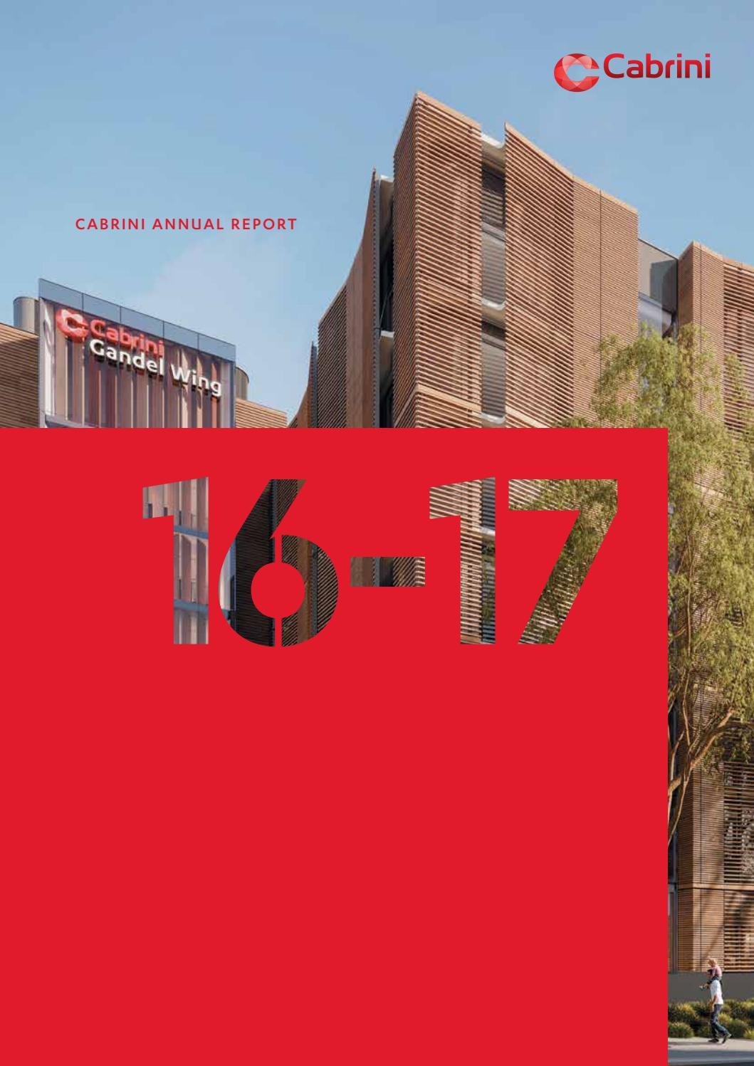 Cabrini Annual Report 2016-17 by Cabrini Health - issuu