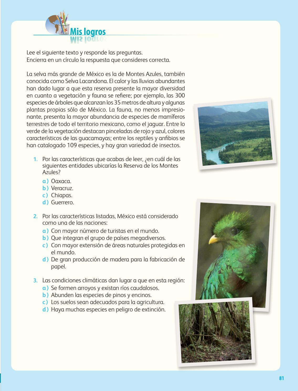 Primaria cuarto grado geografia libro de texto by Ana Lís