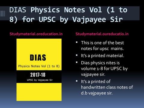 DIAS Physics Notes For UPSC by mukesh kumar - issuu