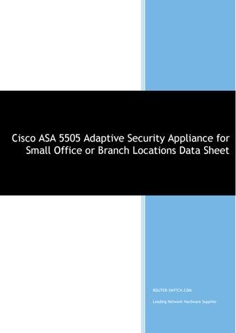 CISCO ASA5505-SEC-BUN-K9 Security Plus Firewall Unlimited Users 25 SSL//IPSec VPN