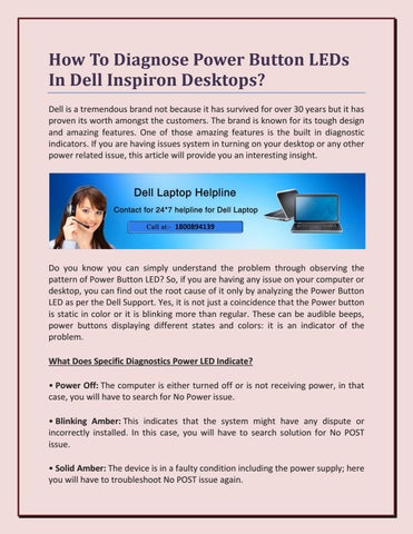 How To Diagnose Power Button LEDs In Dell Inspiron Desktops? by ...