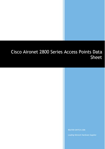 Cisco aironet 2800 series access points data sheet by Joanna