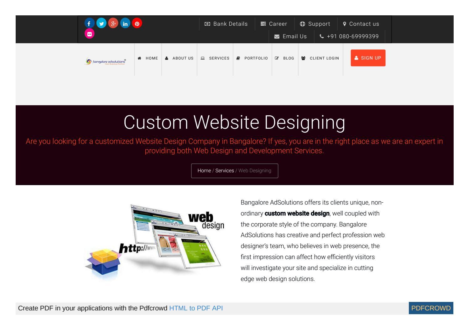 Custom Website Designing Servic By Bangaloreads Issuu