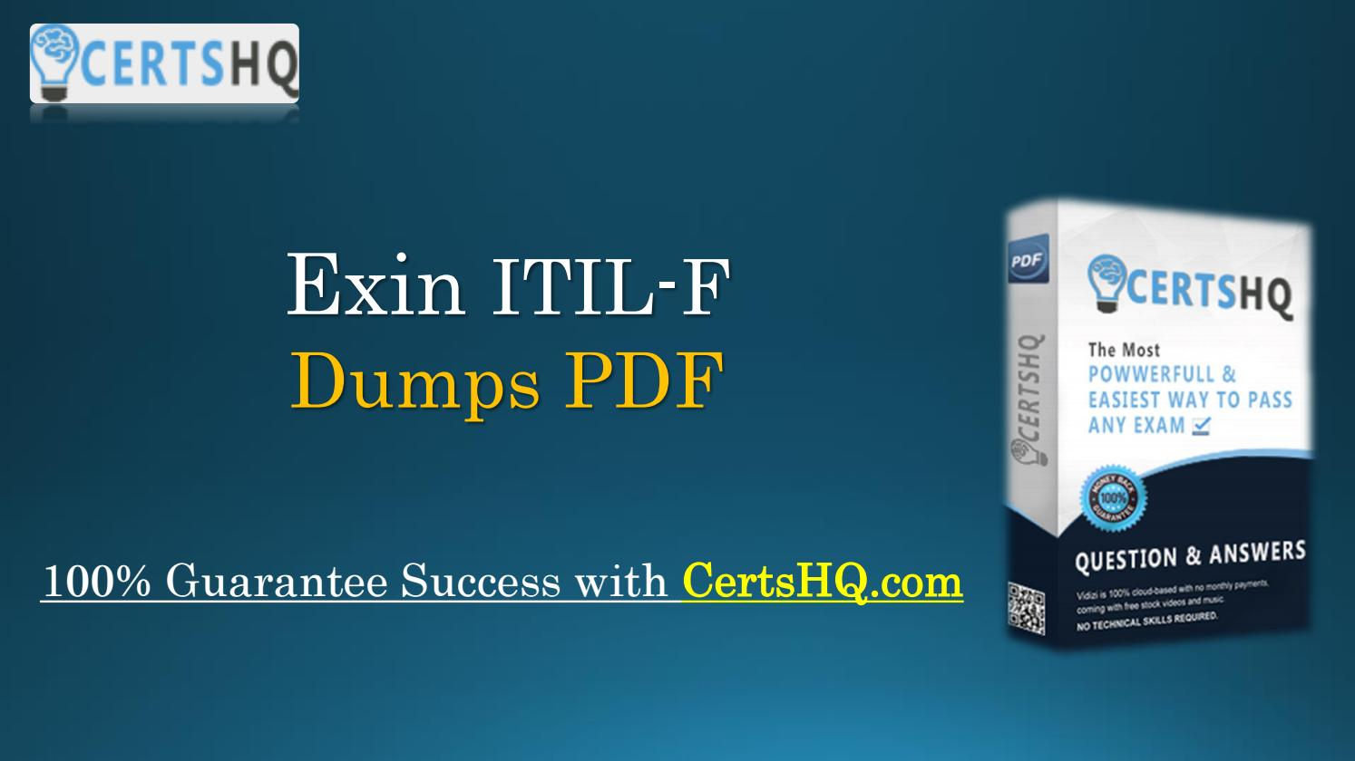 New Itil F Pdf Practice Exam Questions With Free Updates By