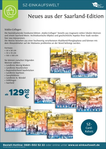 Sz Einkaufswelt Katalog 2017 18 By Saarbrücker Verlagsservice Gmbh