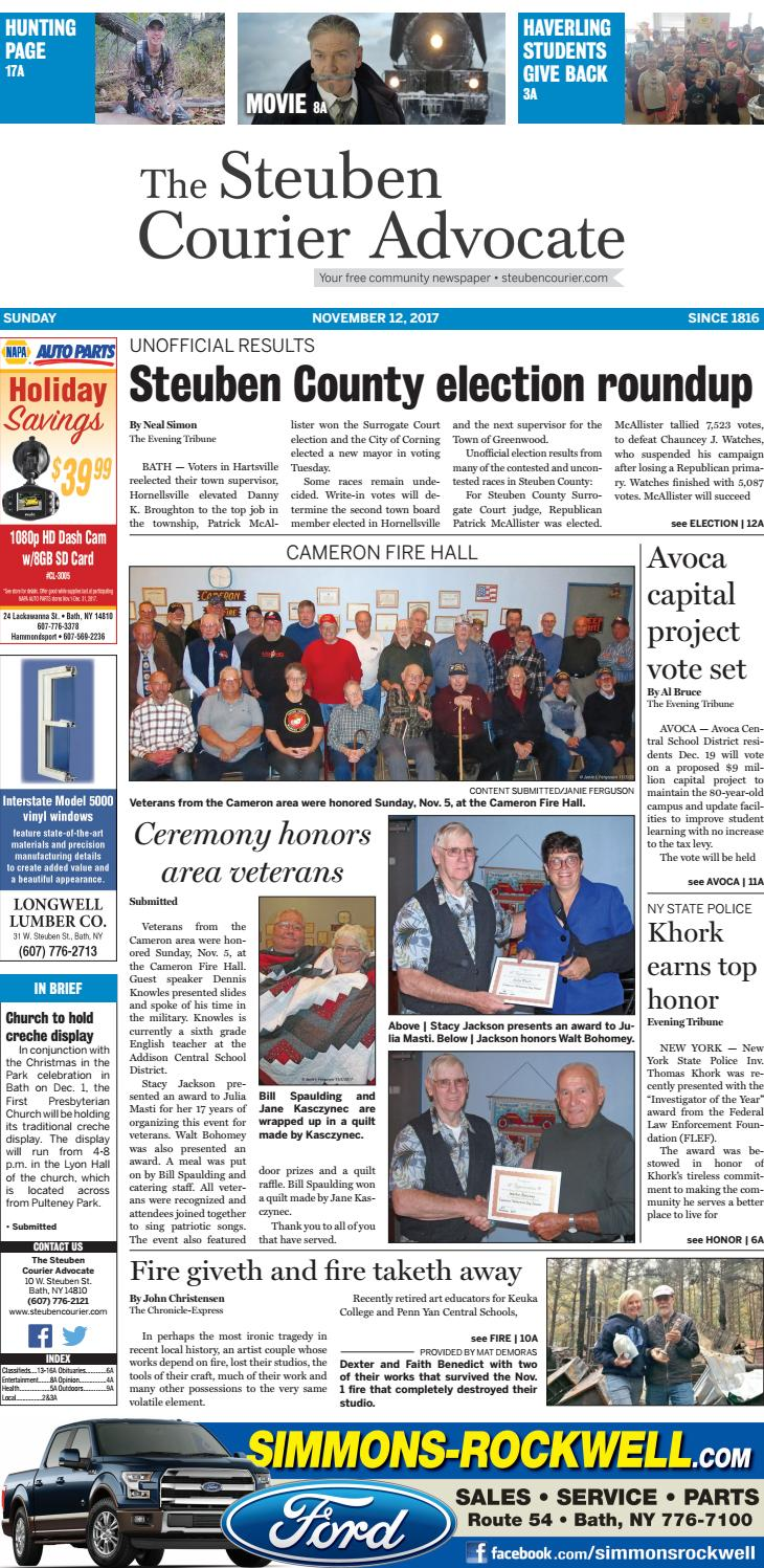 Steuben Courier 11 12 17 By The Steuben Courier Advocate Issuu