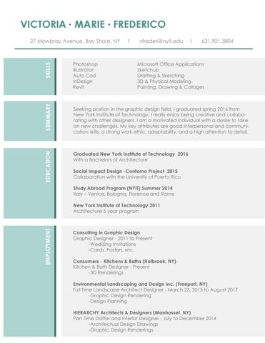 Resume by Victoria Frederico - issuu