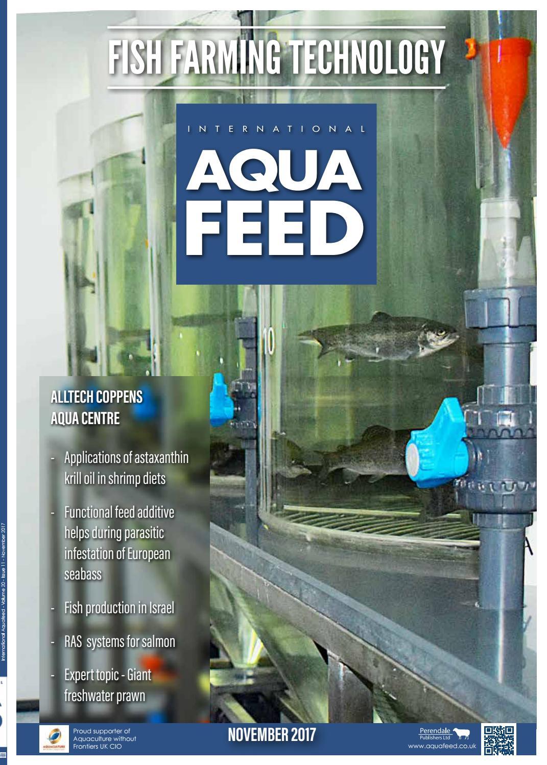 NOV 2017 - International Aquafeed magazine by Perendale Publishers