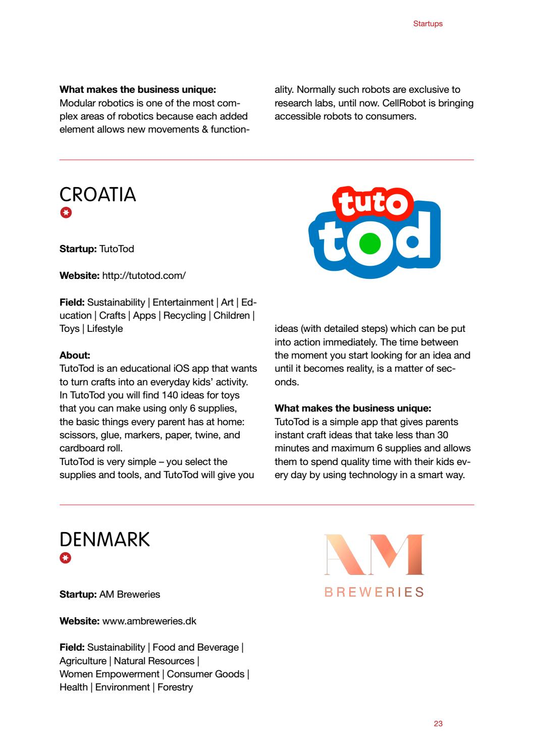 Creative Business Cup 2017 Catalogue By Creative Business Cup Issuu