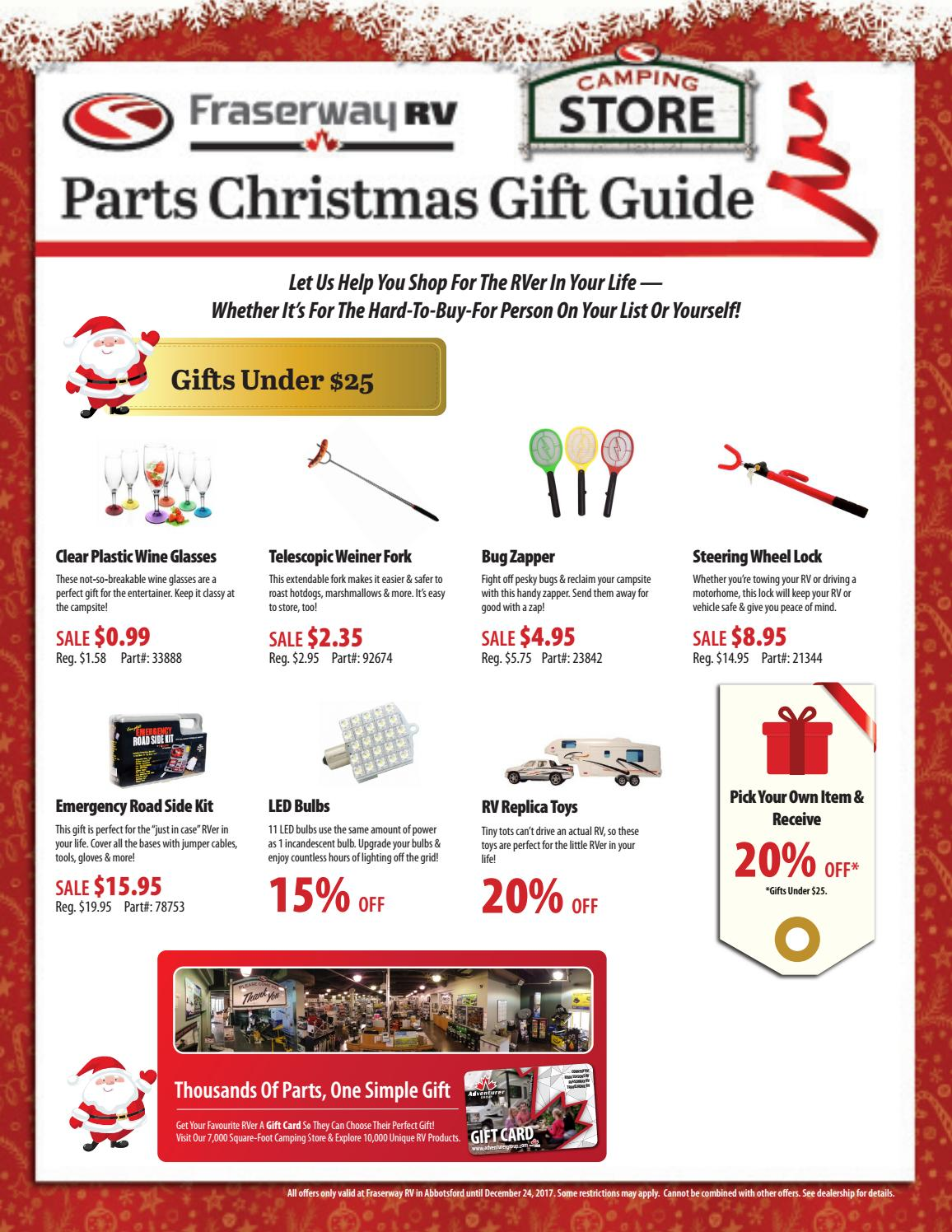 Fraserway RV - 2017 Abbotsford Parts Christmas Gift Guide by