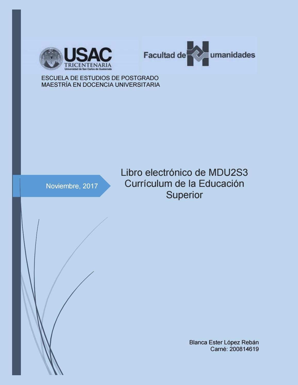 Libro electrónico de Currículum by Ester López - issuu