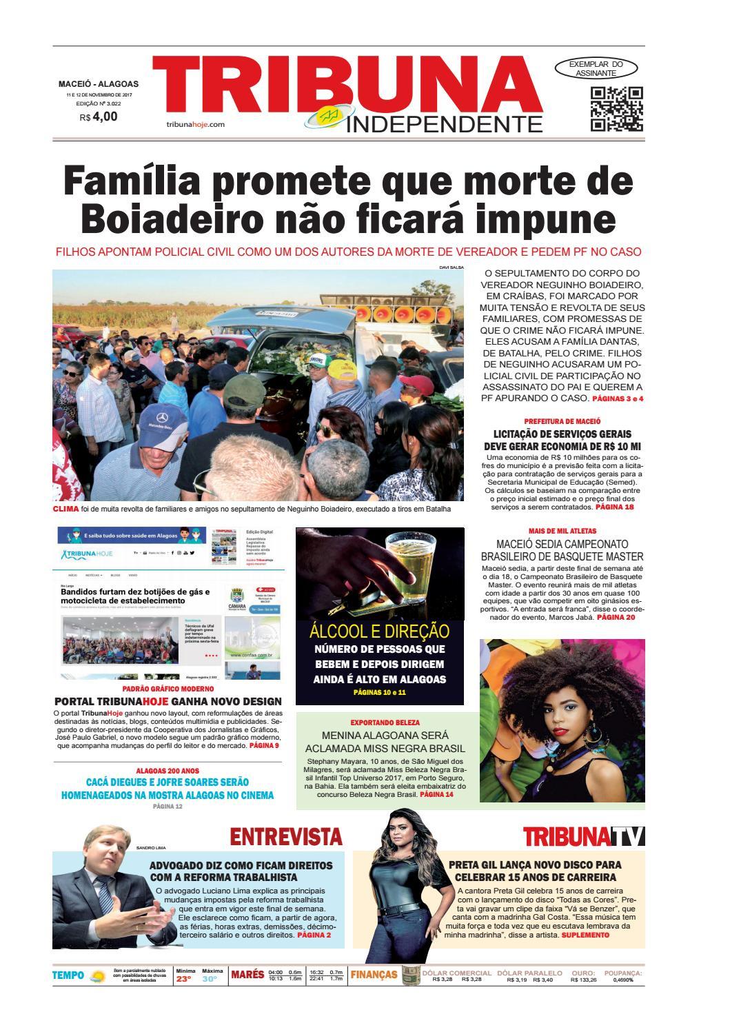 Edição número 3022 - 11 e 12 de novembro de 2017 by Tribuna Hoje - issuu 73c10faf5d