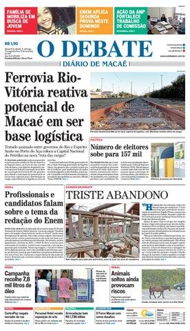 Edição 9433 11 12 13 11 2017 by O DEBATE Diario de Macae - issuu 9a81a002f2