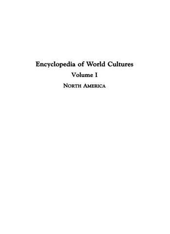 Encyclopedia of World Culture Volume 1 North America by Mohammed