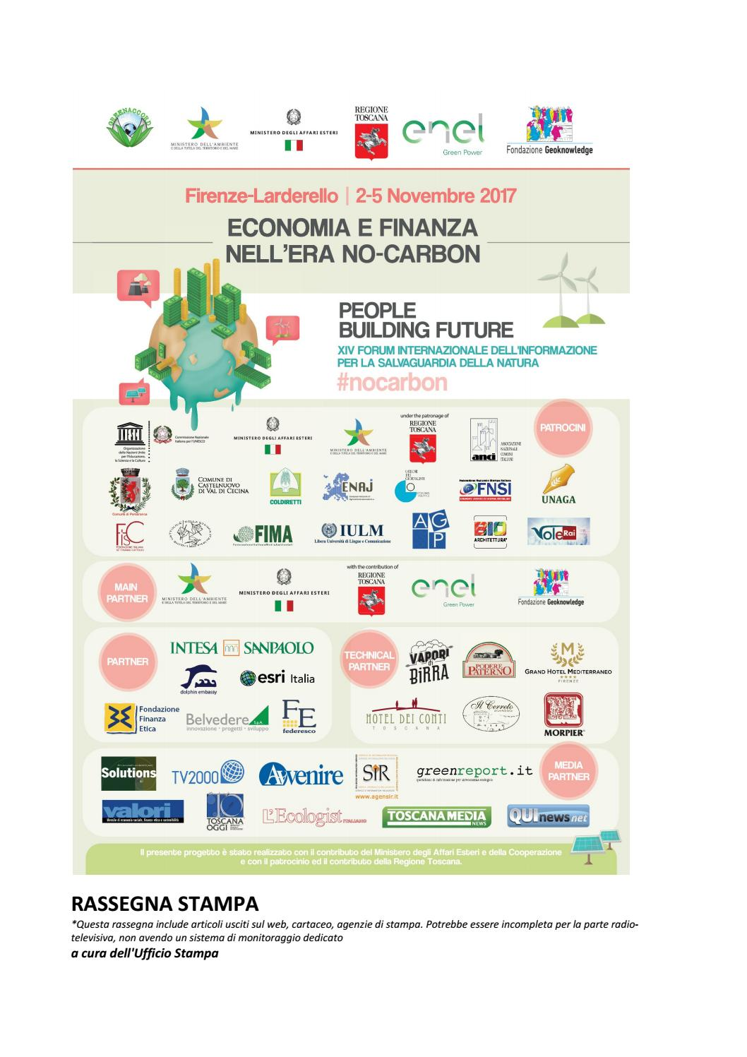 Greenaccord Forum Internazionale Nocarbon By Martina