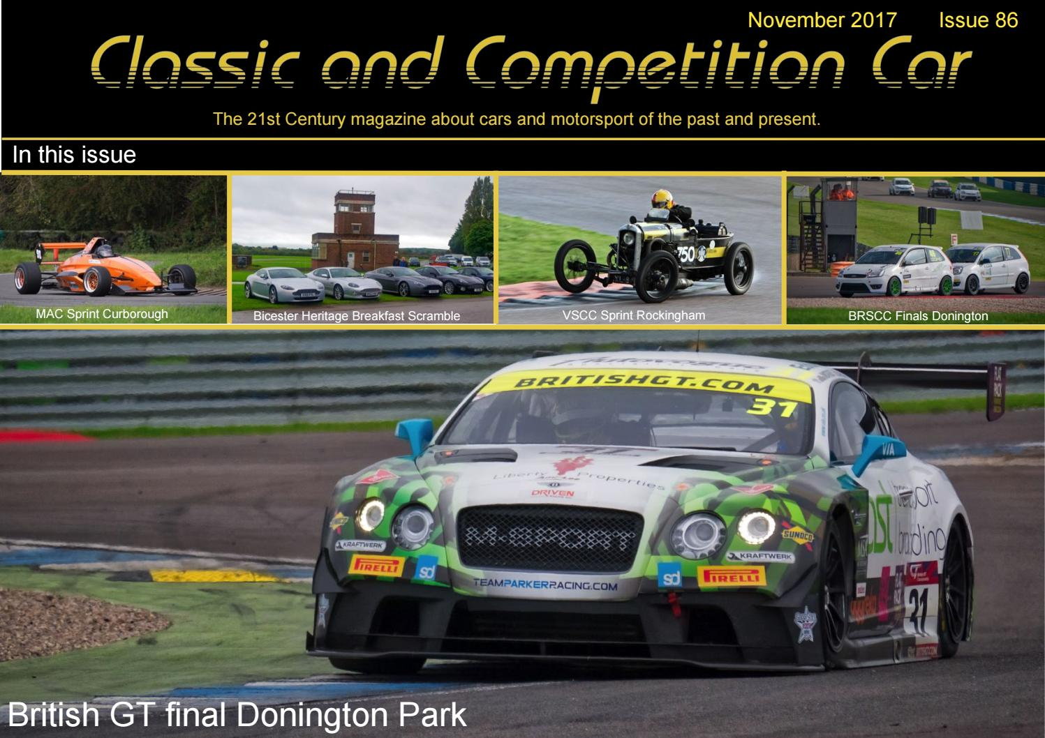 Classic And Competition Car 86 November 2017 By Simon Wright Issuu Not Carrying The Gt4 Suspension Whether Disc Or Drum On Rear