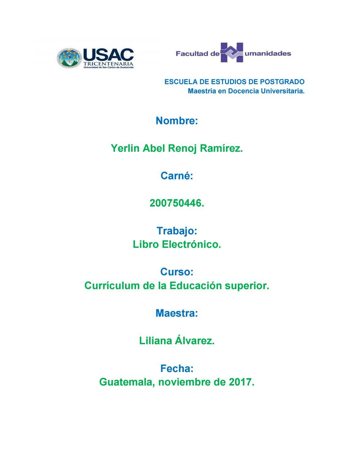 Libro electrónico de Currículum de la Educación Superior. by Yerlin ...