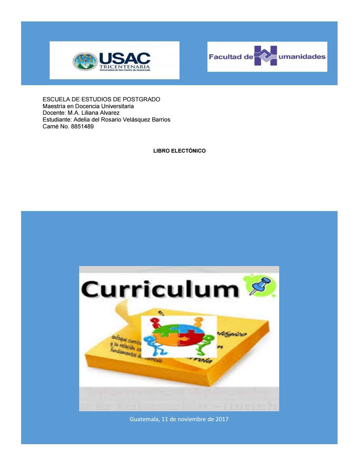 Libro electrónico curriculum by Rosario Velásquez - issuu