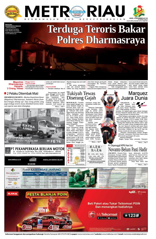 13112017 By Harian Pagi Metro Riau Issuu
