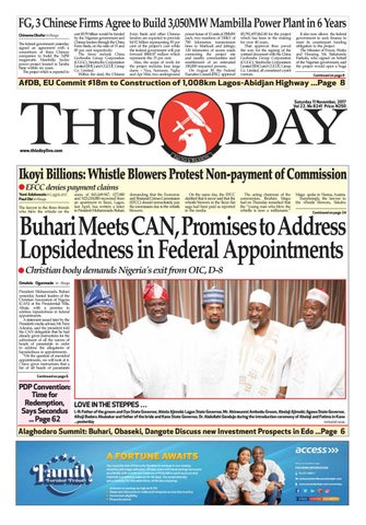 bb1e085594249 Saturday 11th November 2017 by THISDAY Newspapers Ltd - issuu