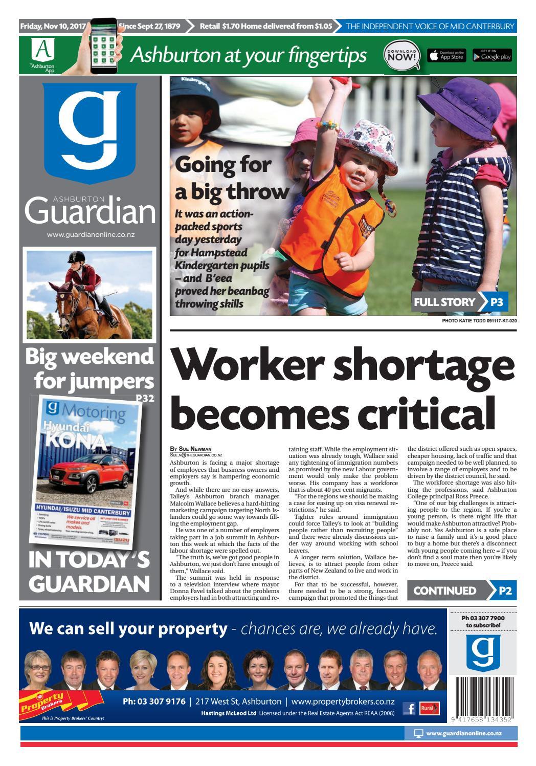Ag 10 november, 2017 by Ashburton Guardian - issuu