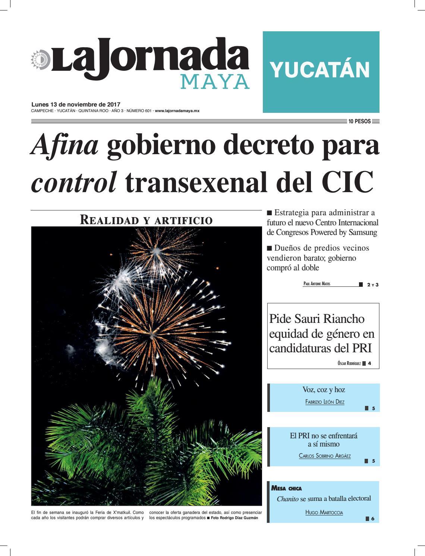 32c7c1b54 La jornada maya · lunes 13 de noviembre de 2017b by La Jornada Maya - issuu