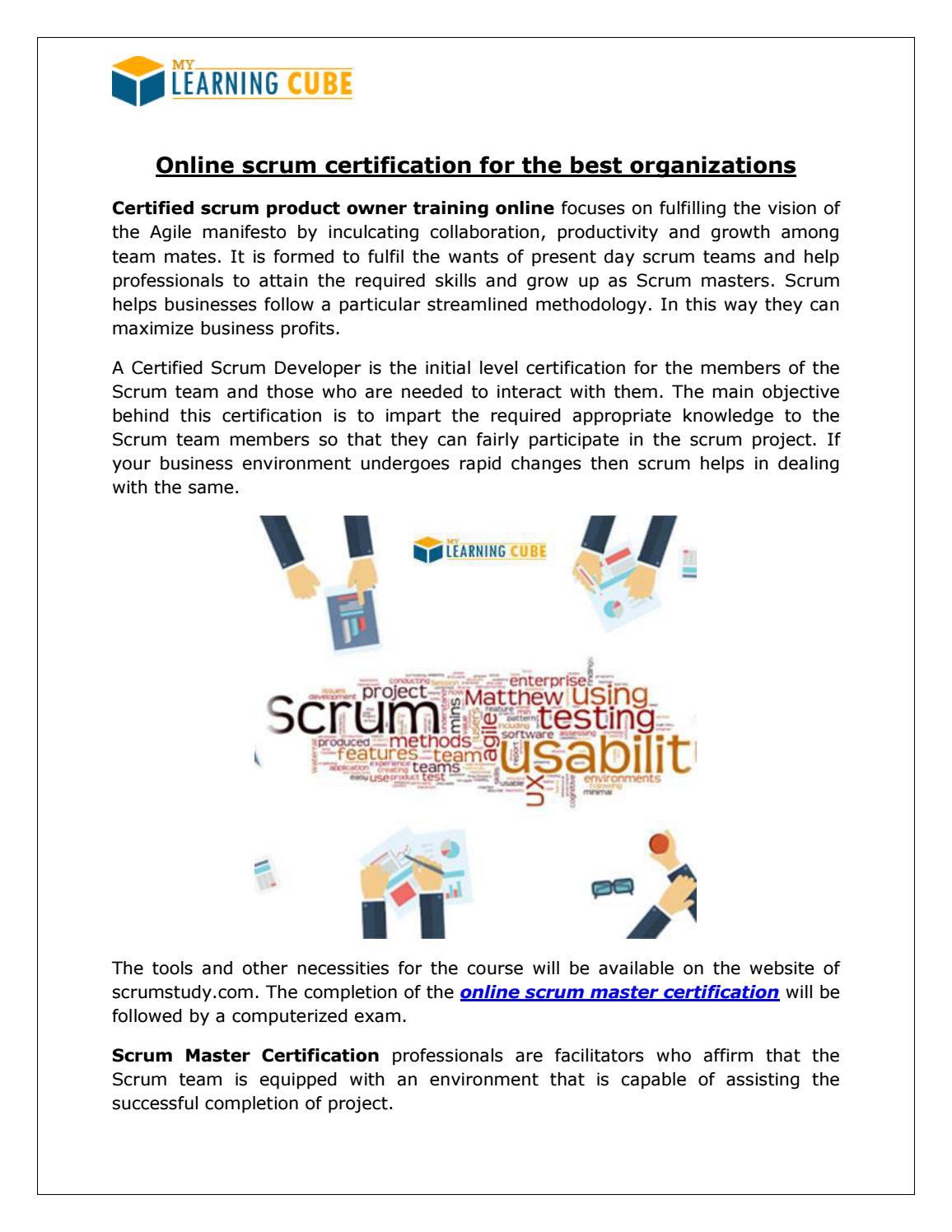 Scrum Master Certification Mylearningcube By Mylearningcube Issuu