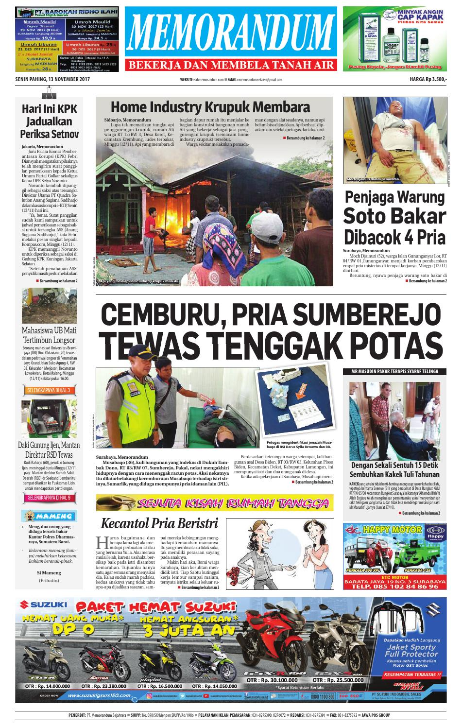 Harga Jual Produk Umk Pnm Mangkuk Batik Uk 23 Cm Terbaru 2018 3in1 Lusinan Sabun Beras Thailand K Brothers Tiga Manfaat Dlm 1 Jauh Lebih Memorandum Edisi 13 November 2017 By Issuu