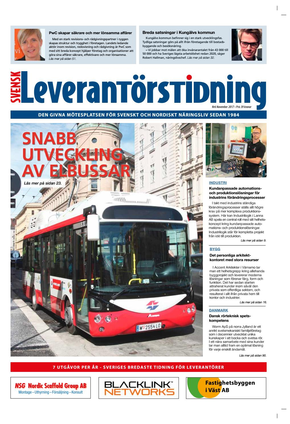 744ea19ee9e1 Svensk Leverantörstidning nr-6 2017 by Hexanova Media Group AB - issuu