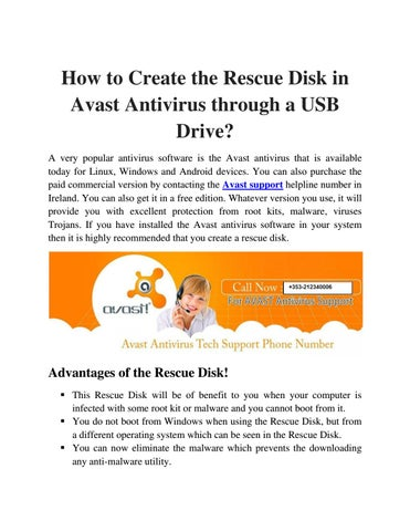 how to create avast rescue disk