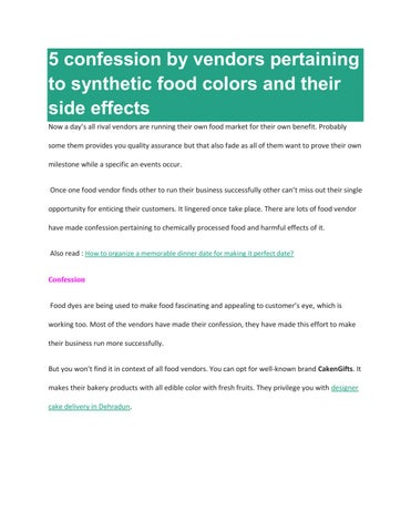 5 confession by vendors pertaining to synthetic food colors and ...