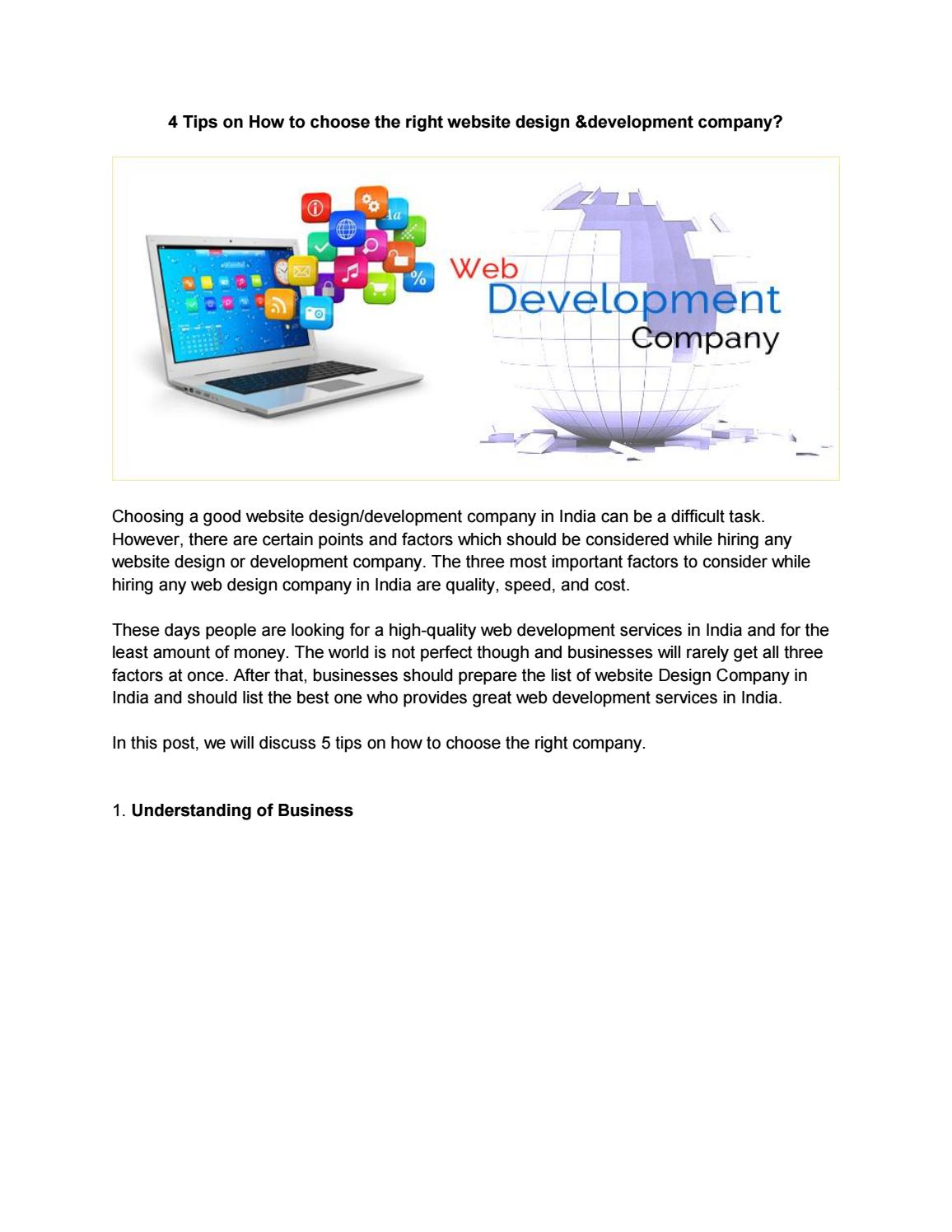 How To Choose The Right Website Design Development Company India Software Assurance By Software Assurance Llc Issuu