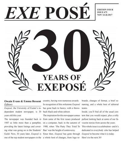 Issue 675 (30th Anniversary) - 13.11.17 by Exeposé - issuu db312dd46b