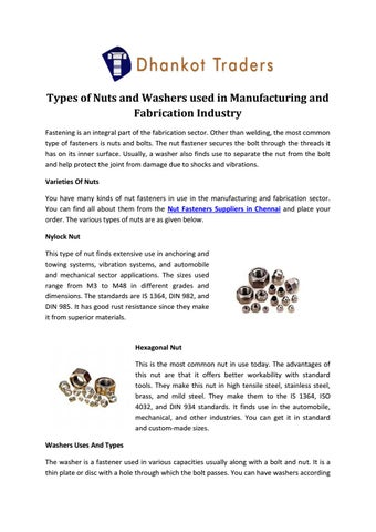 Nut fasteners suppliers in chennai - dhankot traders by Murtaza