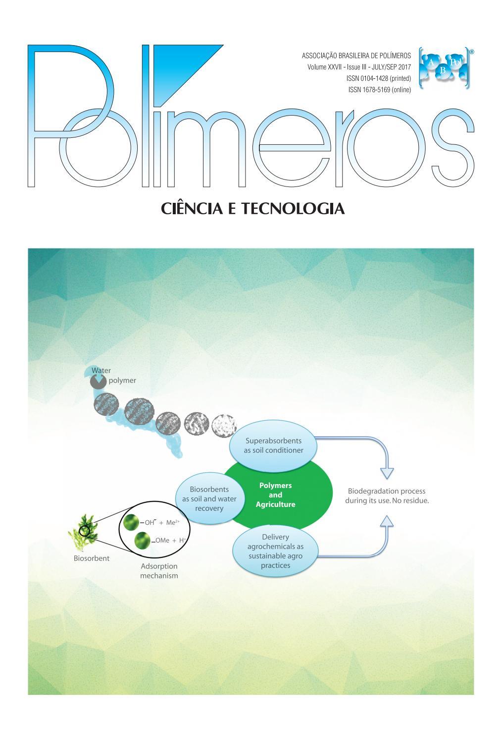 Polímeros: Ciência e Tecnologia 3rd  issue, vol 27, 2017 by