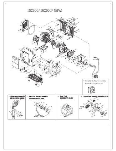 Kipor ig2600p onderdelen tekening by www Powerfulproducts nl - issuu