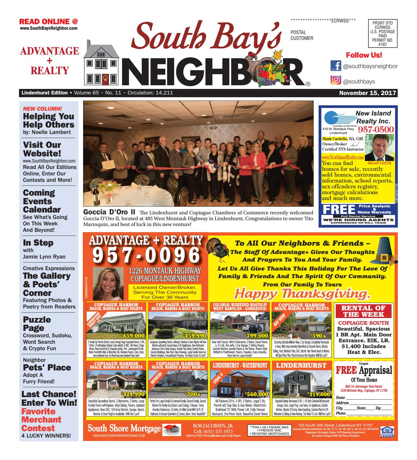 c6d19901 November 15th, 2017 Lindenhurst by South Bay's Neighbor Newspapers - issuu
