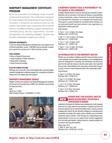 UNLV Spring 2018 Continuing Education Catalog by UNLV Division of ...