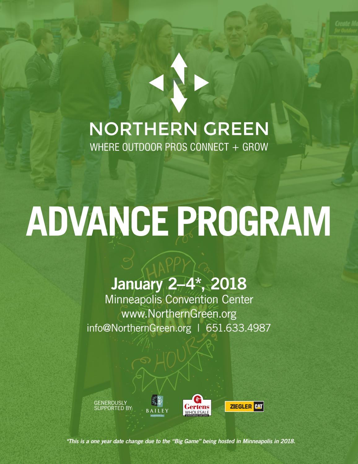 Northern Green 2018 Advance Program by Northern Green - issuu