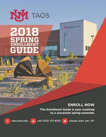 Spring 2018 enrollment guide by unm taos issuu page 1 fandeluxe Images