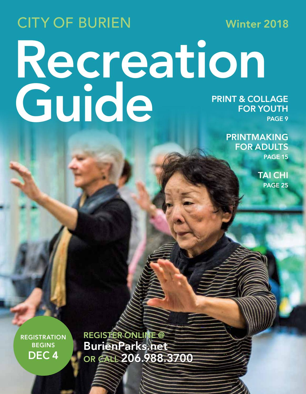 Burien 2018 Winter Recreation Guide By Burien Parks Issuu