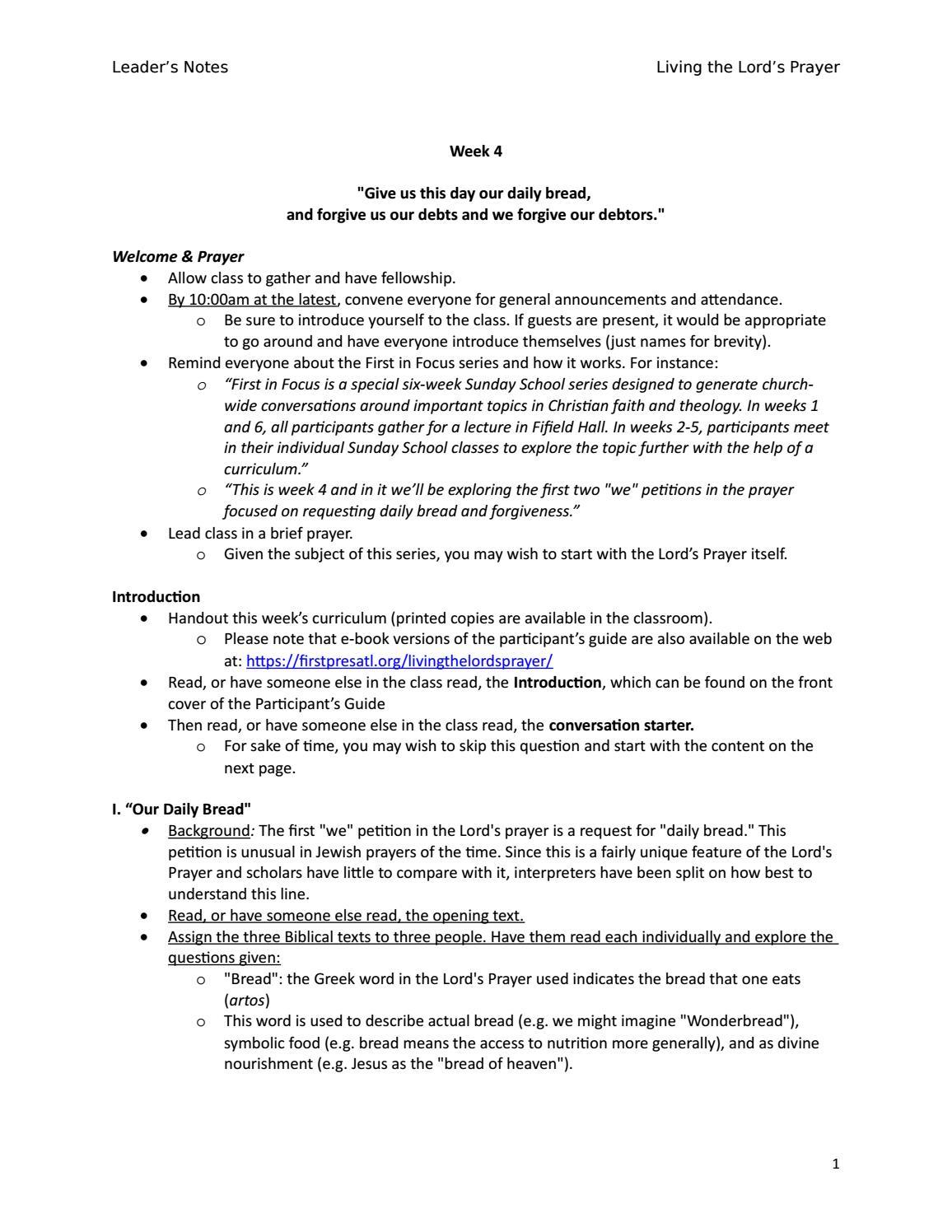 Leader's Notes by First Presbyterian Church of Atlanta - issuu