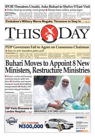 258cc435c3cf Tuesday 14th November 2017 by THISDAY Newspapers Ltd - issuu