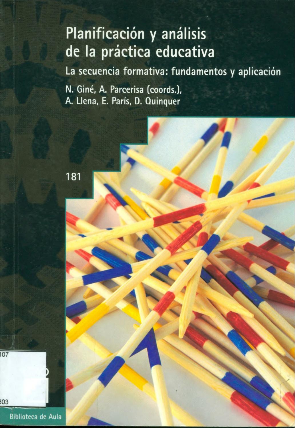 Planificacion y analisis de la practica educativa gine pdf by María ...