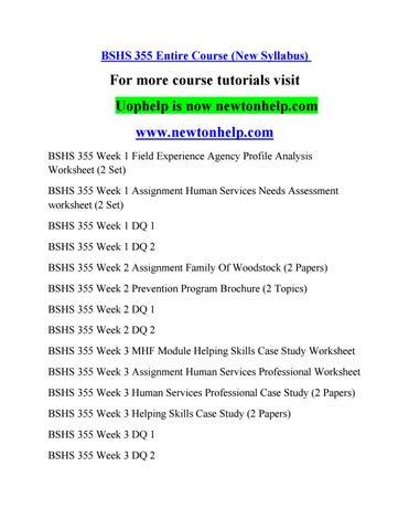 Bshs 355 Course Inspiring Minds Newtonhelp By Huntrobertson4
